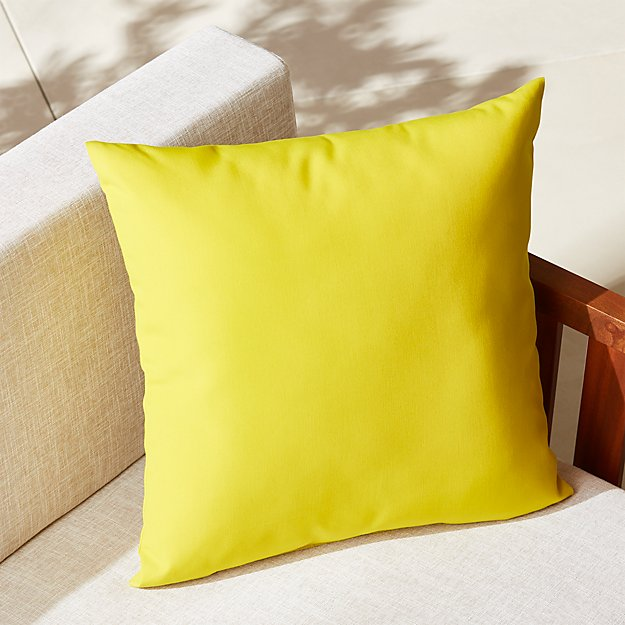 "20"" chartreuse outdoor pillow"