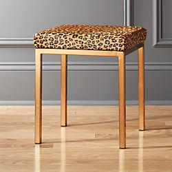 Cheetah Print Hide Stool