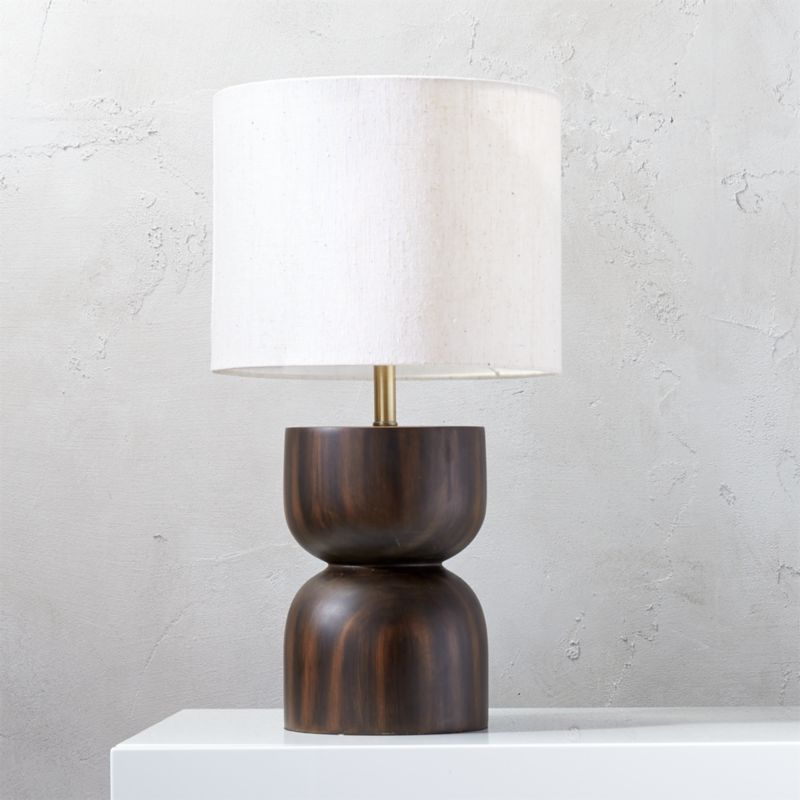 chet wood table lamp - Modern Table Lamp