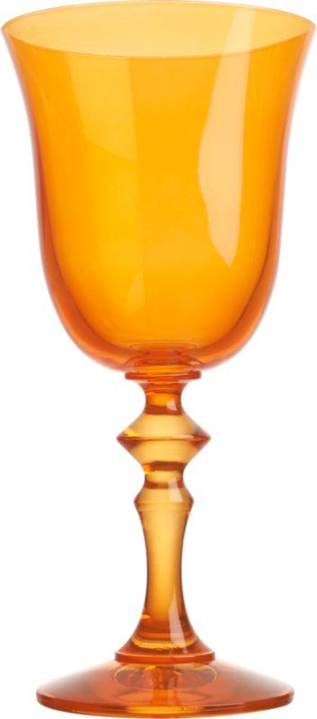cheval orange wine glass