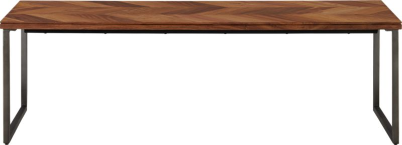 48 chevron wood coffee table CB2