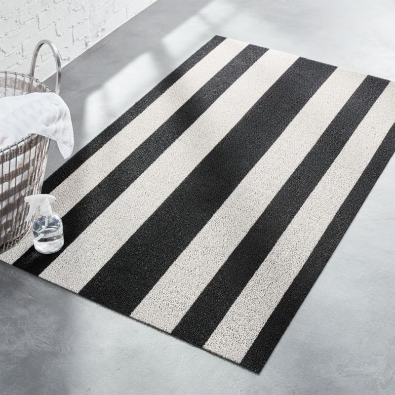 Chilewich Black And White Floor Mat Reviews Cb2