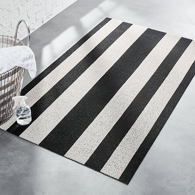 Chilewich Black And White Floor Mat Cb2