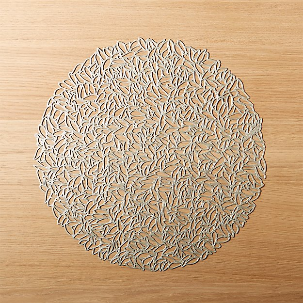Chilewich ® Petal Silver Cutout Placemat