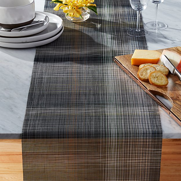 Chilewich 174 Plaid Table Runner Cb2