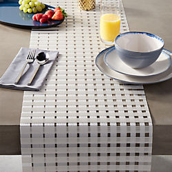 chilewich ® satin glass table runner