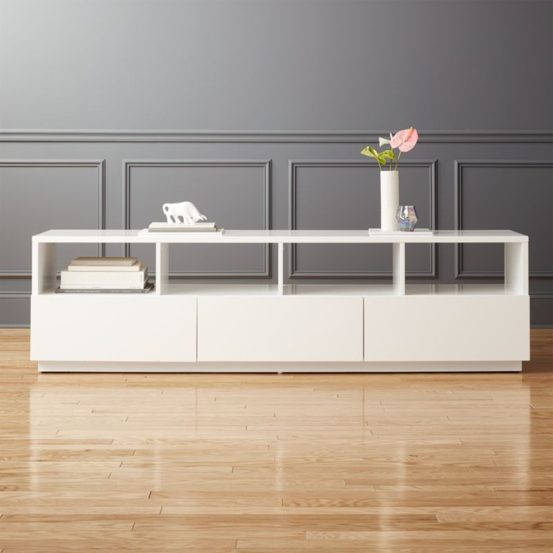 Chill Large White Media Console Reviews Cb2