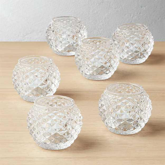 set of 6 chroma tea light candle holders
