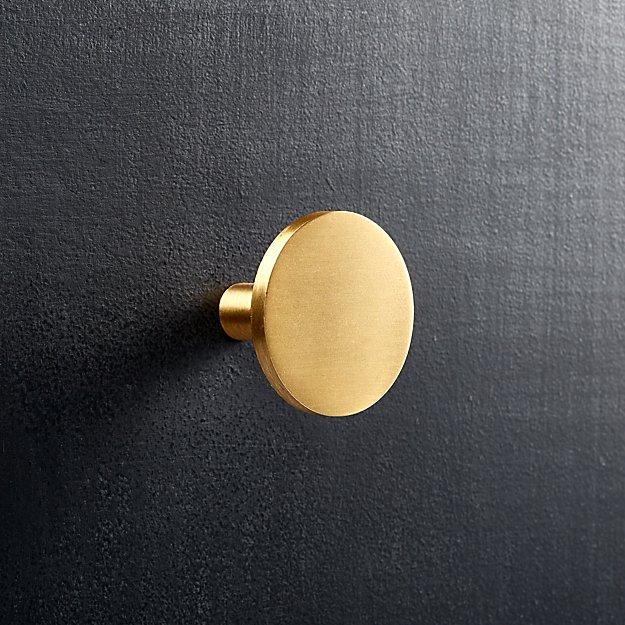 circle brass knob
