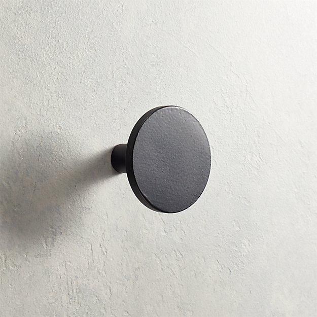 Circle Matte Black Knob