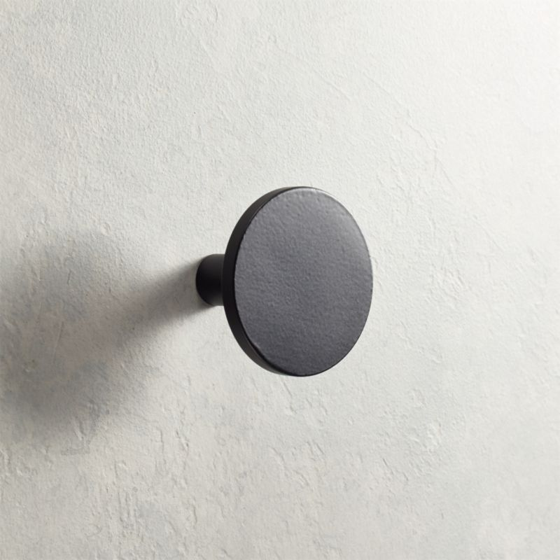 black cabinet knobs. Circle Matte Black Knob Cabinet Knobs