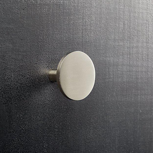 circle silver knob