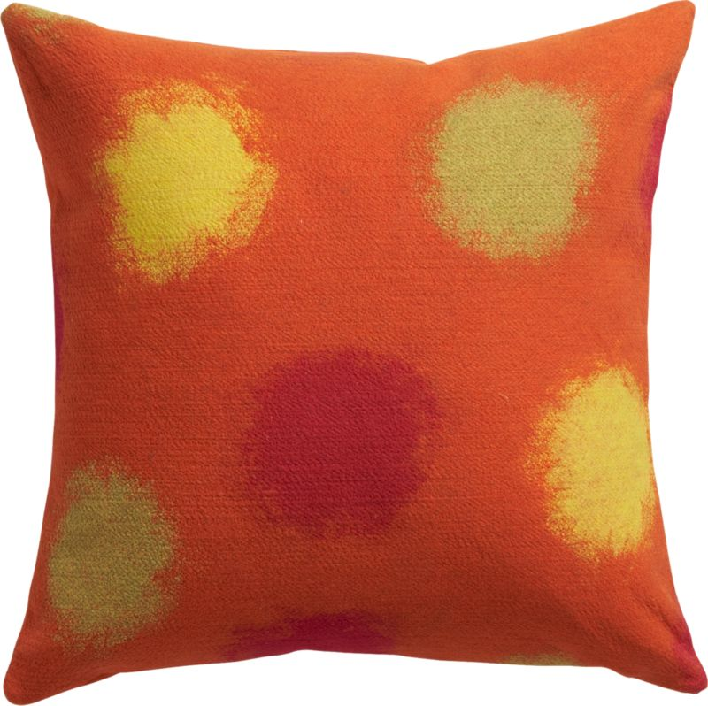 "circlet orange 20"" outdoor pillow"