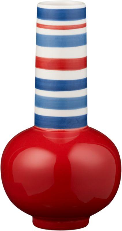 cirque red vase