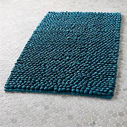 cirrus blue green bath mat