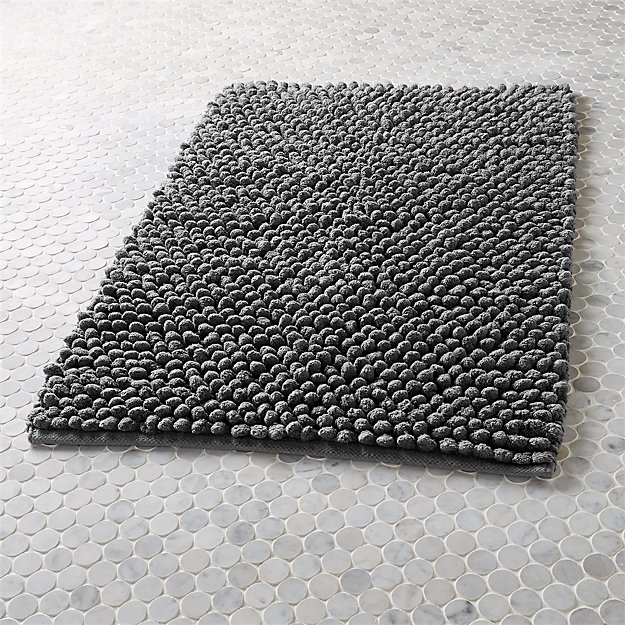 Can Bathroom Rugs Go In The Dryer: Cirrus Grey Bath Mat