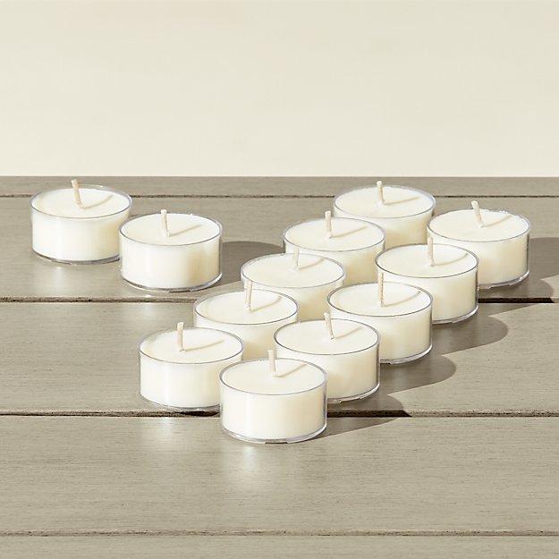 set of 12 citronella tea light candles