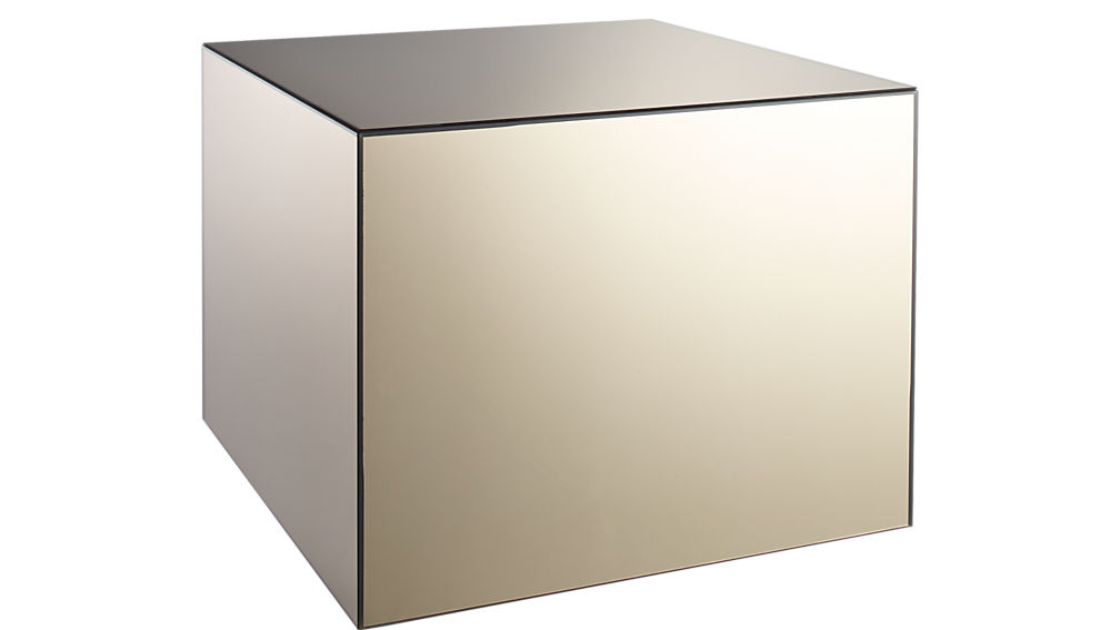 City Slicker Mirrored Side Table Reviews Cb2