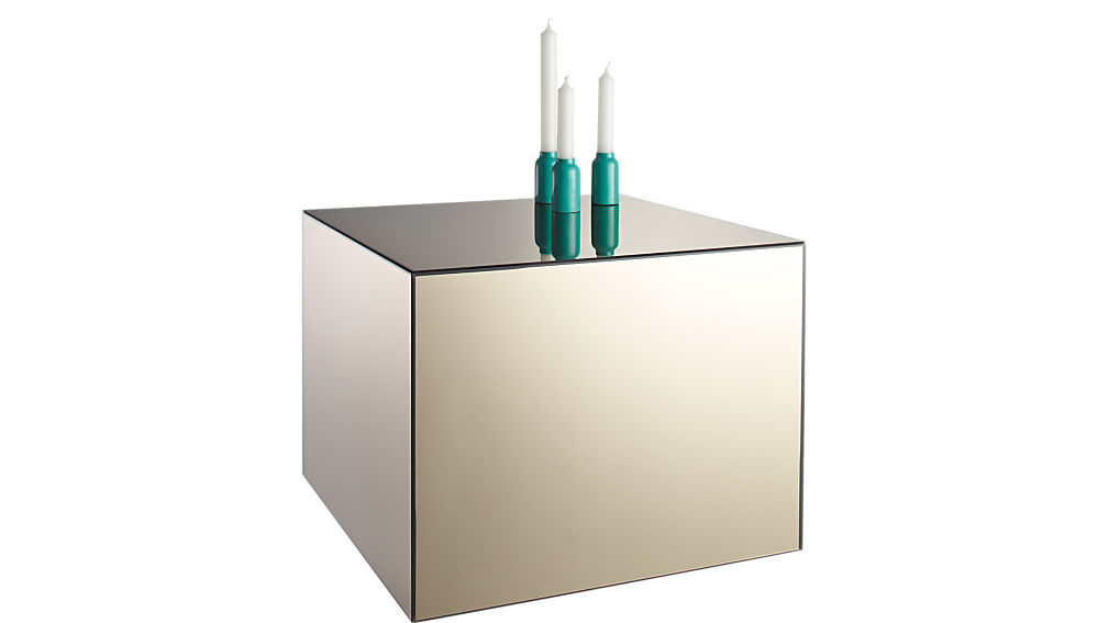city slicker mirror side table