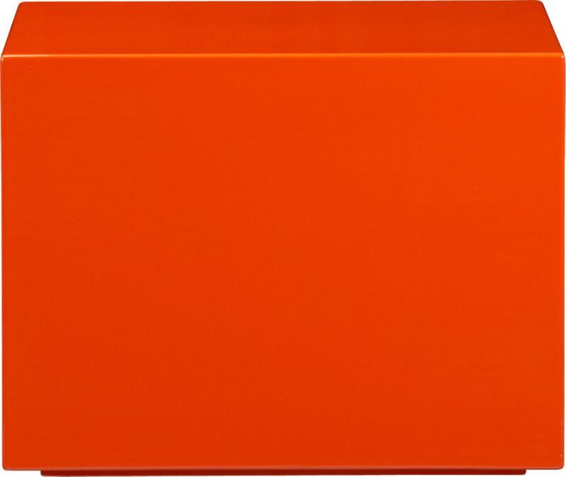 city slicker orange side table