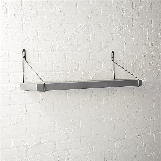 clad shelf with gun metal brackets