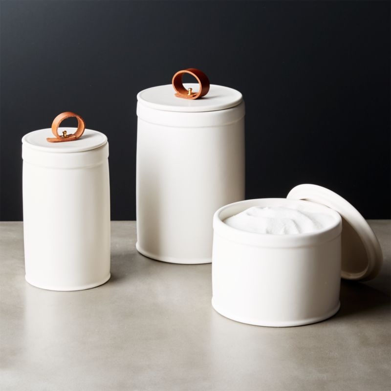 Newclasp White Ceramic Canisters Set Of 3 Add To Favorites