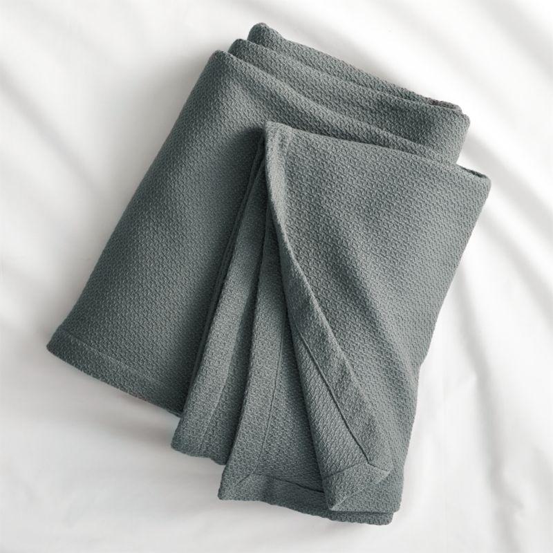 classic graphite full/queen blanket