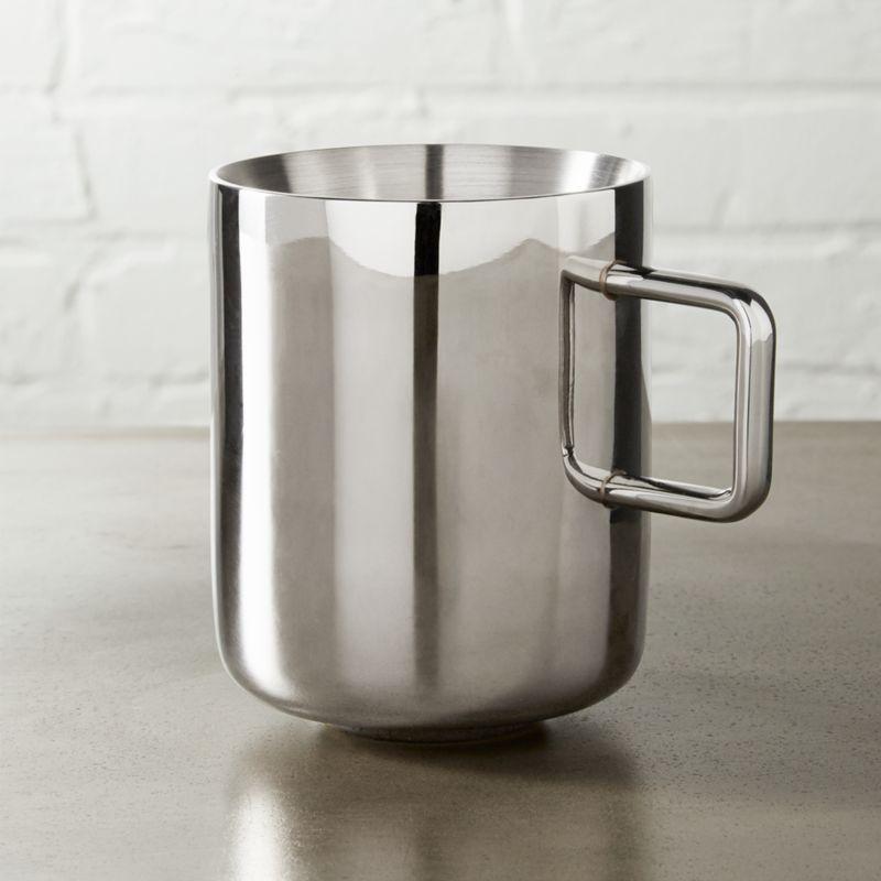 Clink Stainless Steel Metal Mug Reviews Cb2