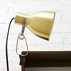 clip brass light