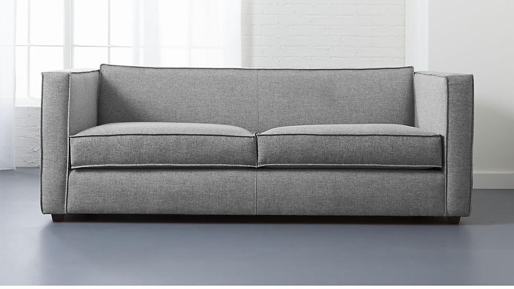 Club Light Grey Sofa Reviews Cb2