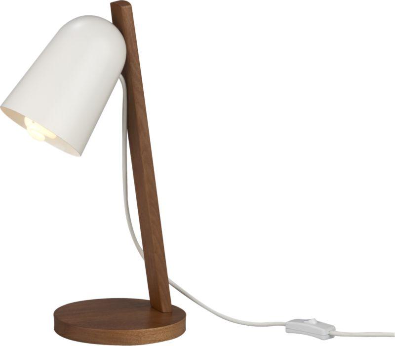 clutch walnut table lamp