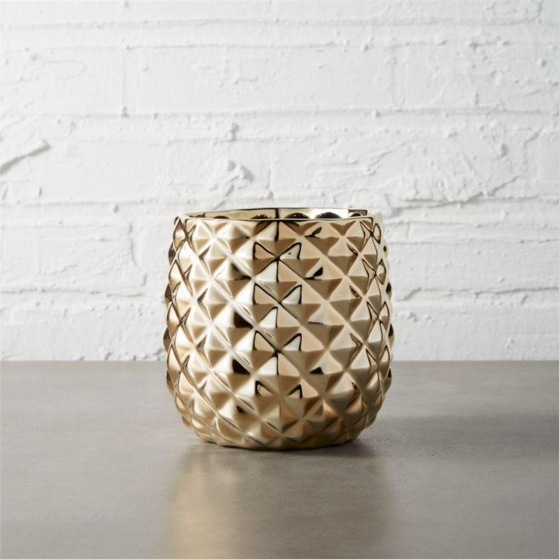 colada pineapple vase planter reviews cb2. Black Bedroom Furniture Sets. Home Design Ideas