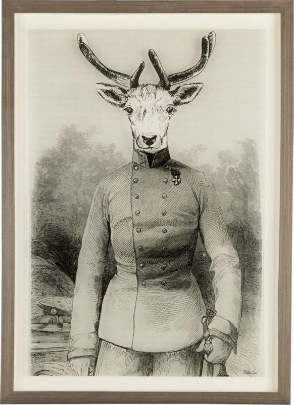 colonel deer acrylic framed print