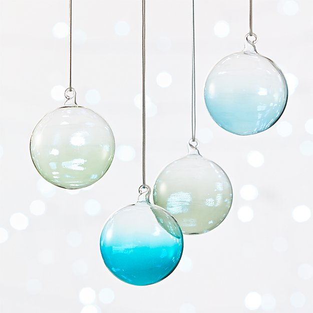 Color Spray Ornaments Set of 4