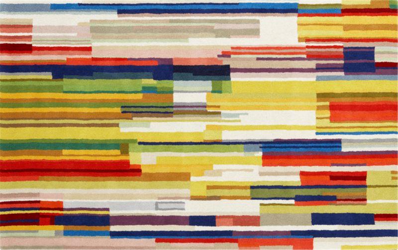 color stripes rug 5'x8'