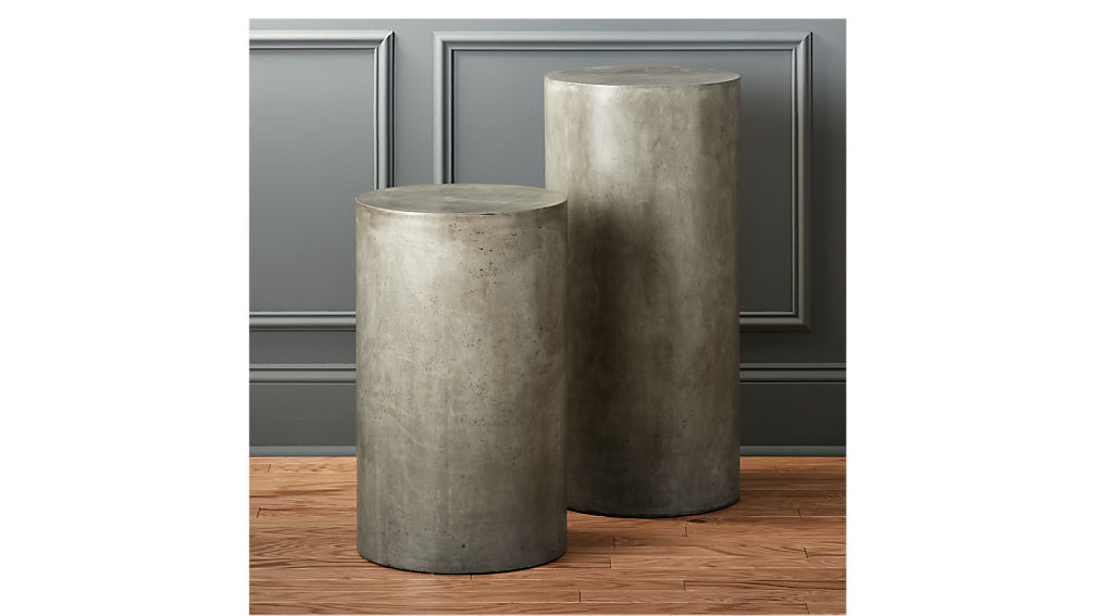 Column Large Grey Pedestal CB2