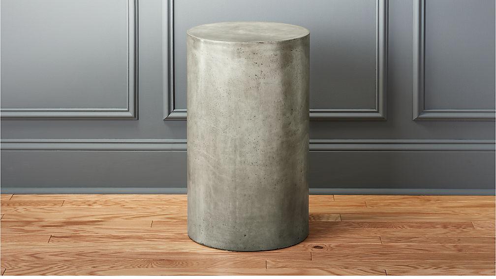 column small grey pedestal table cb2. Black Bedroom Furniture Sets. Home Design Ideas