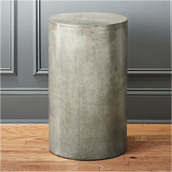 column small grey pedestal table