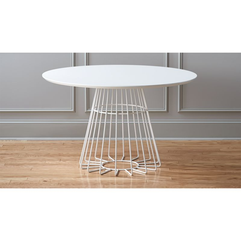 compass wire base dining table in dining tables Reviews CB2