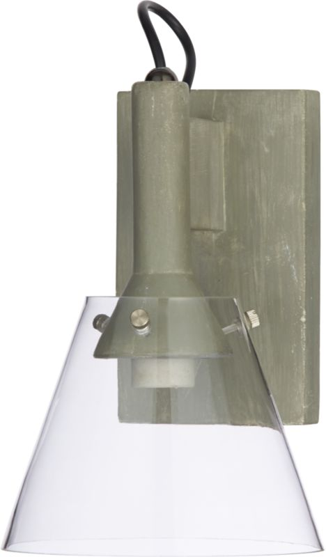 concrete wall sconce