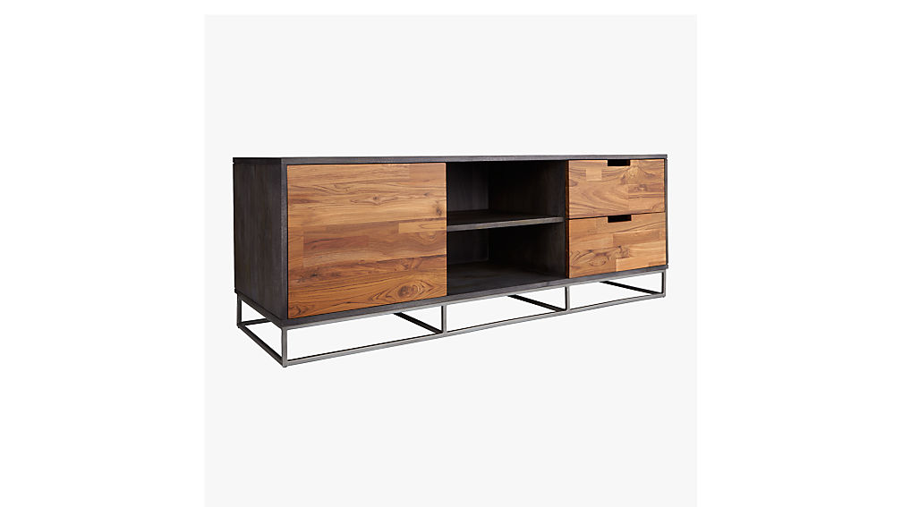 congo modern media credenza cb2. Black Bedroom Furniture Sets. Home Design Ideas