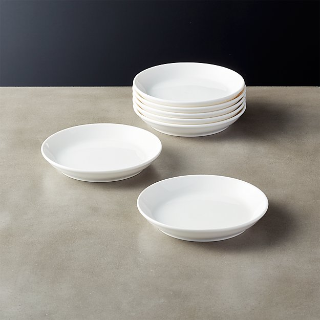 Contact Bone China White Appetizer Plates Set of 8