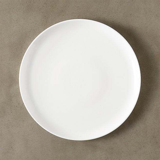 contact white dinner plate