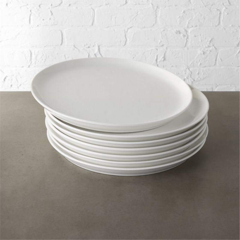 Contact White Dinner Plates Set Of 8 In Dinnerware