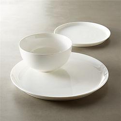 contact white dinnerware