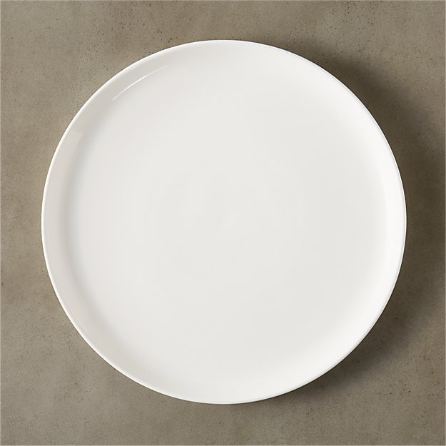 contact white round platter