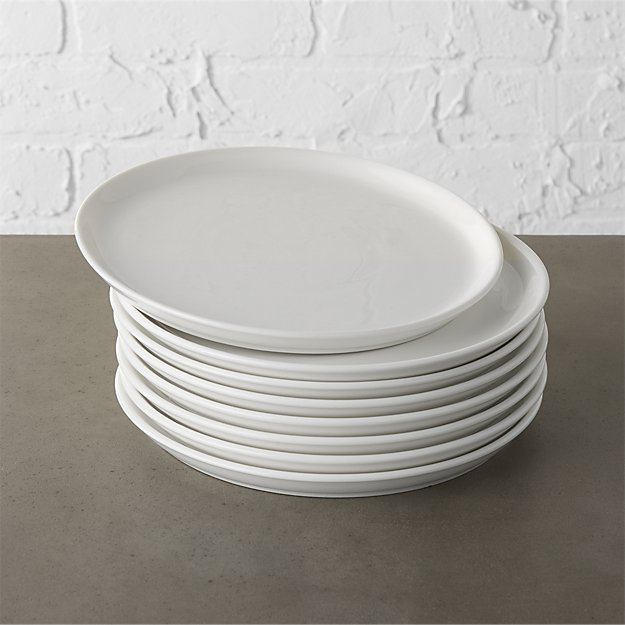 set of 8 contact white salad plates