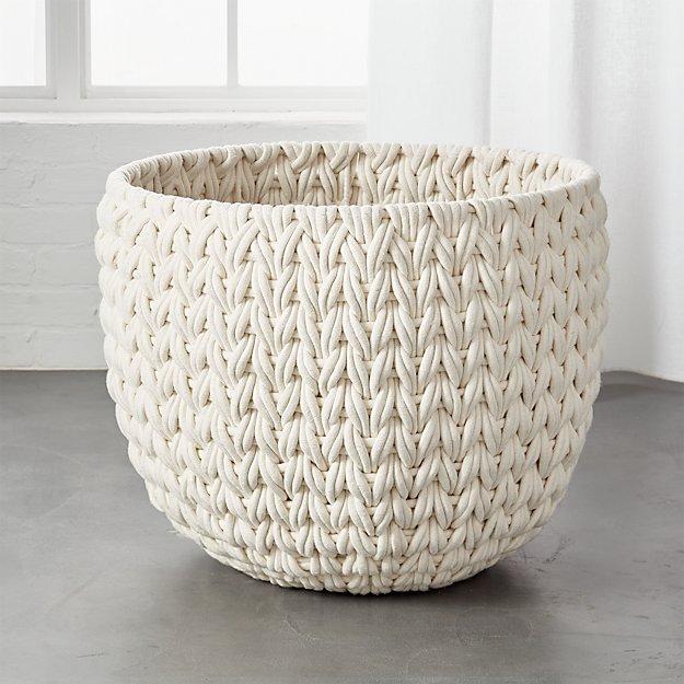 Conway Xl Large White Rope Basket Reviews Cb2