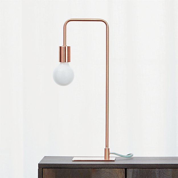Arc copper table lamp in table lamps reviews cb2