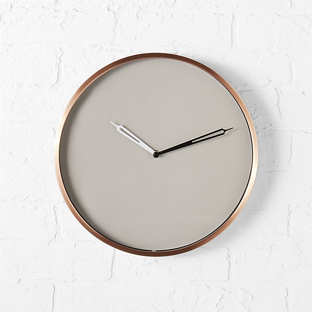 Copper Wall Clock Cb2